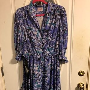 VINTAGE DRESS BY CALIFORNIA LOOKS SIZE 16